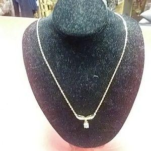 Jewelry - 18k Topaz Gemstones and Diamond Necklace